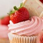 Receta Cupcakes de Fresa