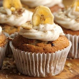 Receta cupcakes con plátano